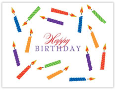 Colorful Birthday Candles Card