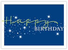 Sparkling Blue Birthday Card