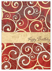 Floral Scroll Birthday
