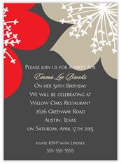Double Blossom Invitation