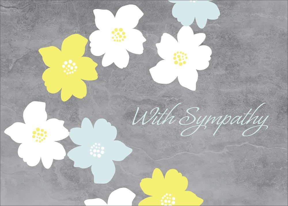 Sympathy flower cards
