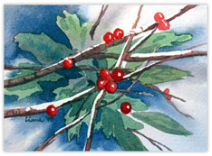 Mistletoe Water Paint