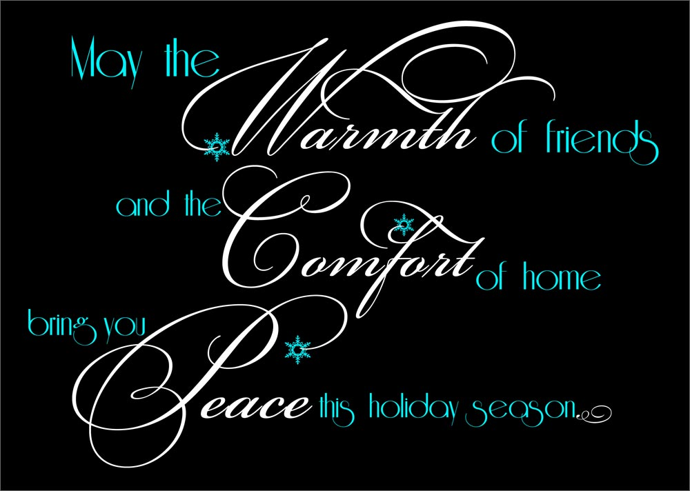 Peaceful quotes business on quotestopics christmas cards business christmas cards warmth comfort peace 1000x712 reheart Image collections