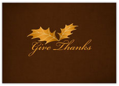 Golden Thanksgiving Leaves