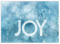 Simple Joy New Year Card