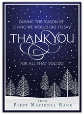 Seasonal Thank You