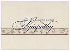 Elegant Deepest Sympathy