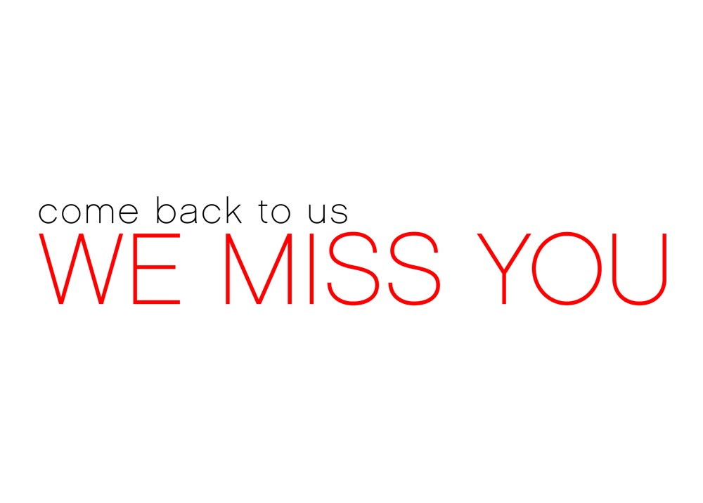 We Miss You - Thank You Cards from CardsDirect