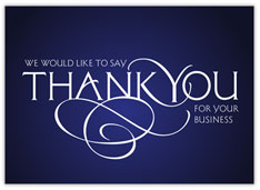 Business Thank You Scroll