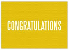 Bold Congratulations