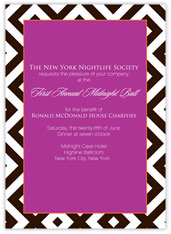 Fuchsia and Chocolate Invitation