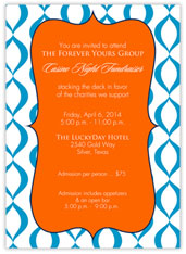 Orange and Blue Invitation