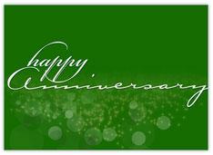 Sparkly Green Anniversary