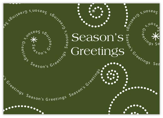 Modern Spiral Greetings - Season Greetings from CardsDirect