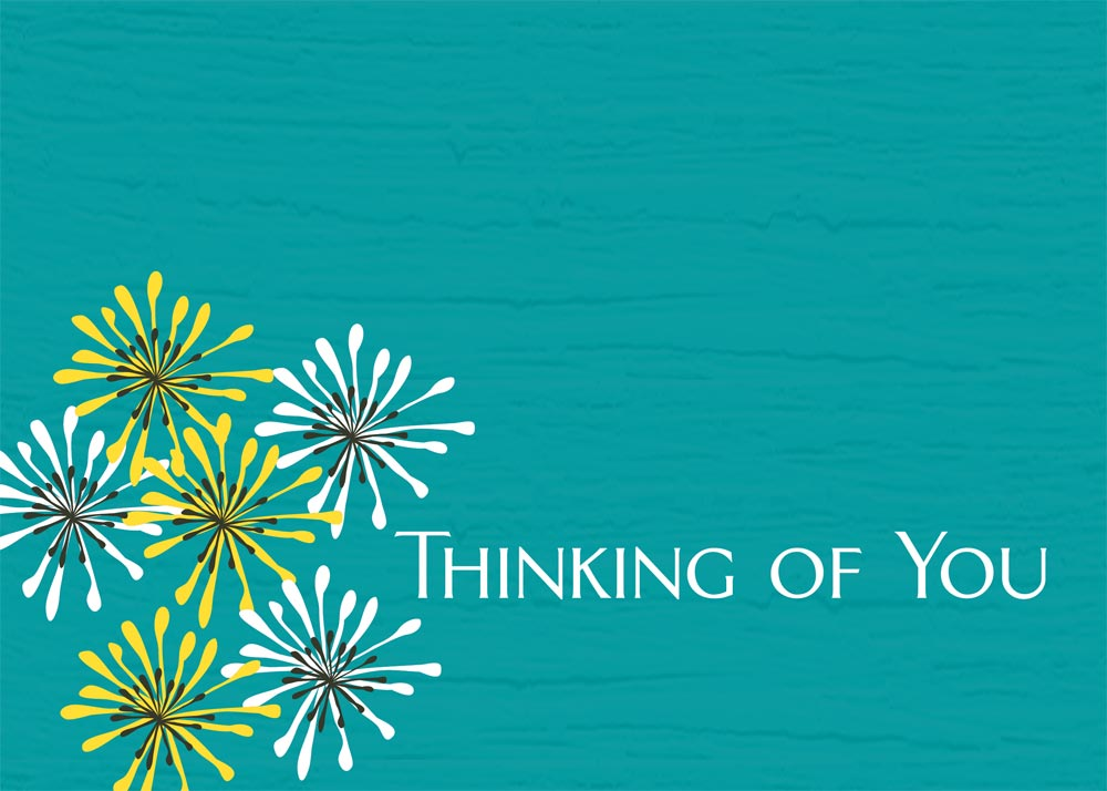 Corner Accented Flowers - Thinking of You Cards from ...