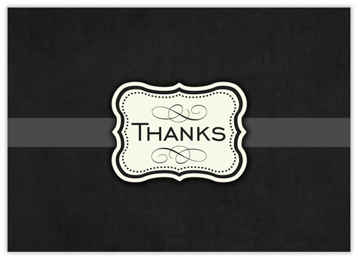 Medallion of Thanks - Thank You Cards from CardsDirect