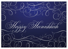Blue Hanukkah Swirls
