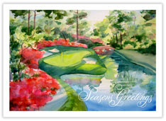 Holiday Golf Scene