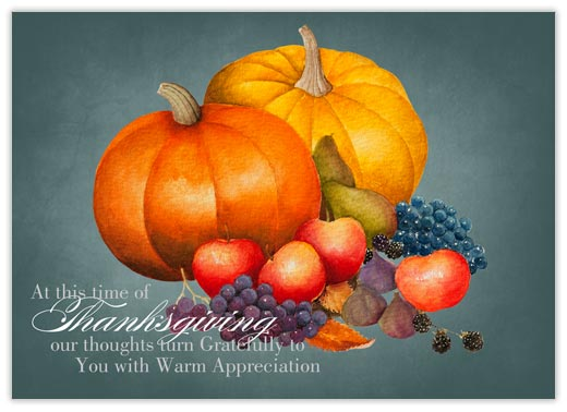 Harvest of Thanksgiving - Thanksgiving Cards from CardsDirect