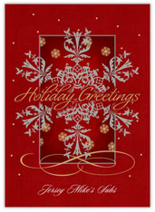 Red Snowflake Scroll