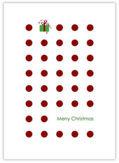 Christmas Dots and Gift