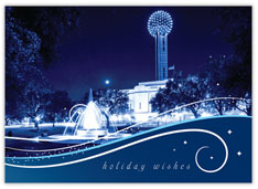 Reunion Tower Blue Winter
