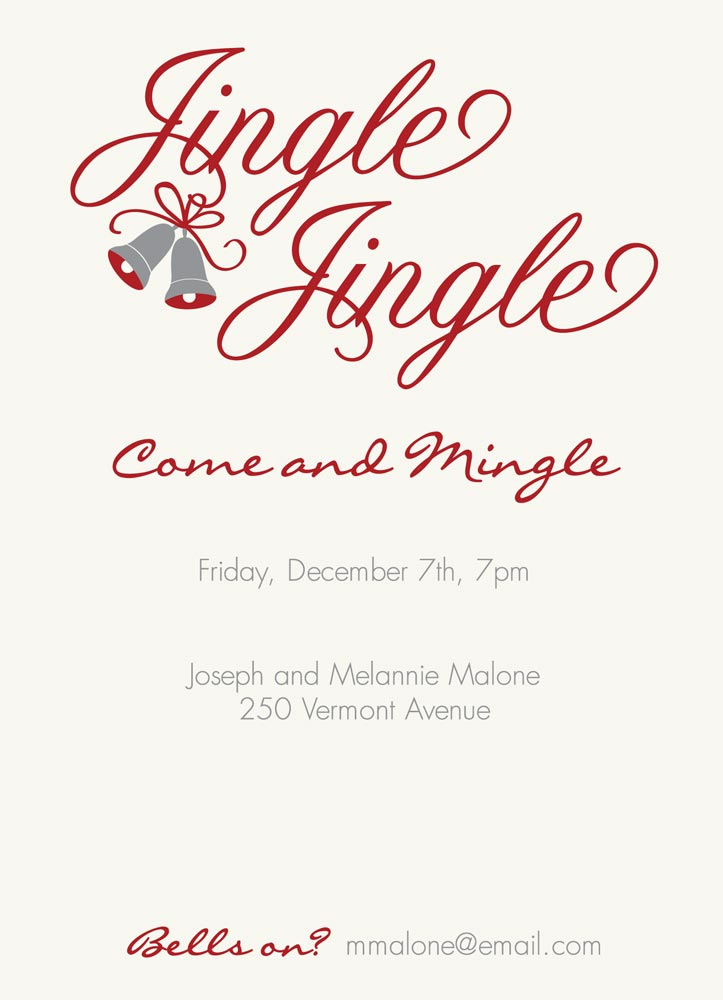 Jingle Jingle Invitations - Holiday Party Invitations from CardsDirect: www.cardsdirect.com/product/1314830/jingle-jingle-invitations.aspx