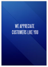 Blue Customer Appreciation