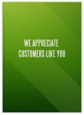 Green Customer Appreciation