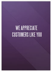 Purple Customer Appreciation