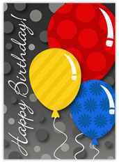Bright Patterned Balloons Birthday