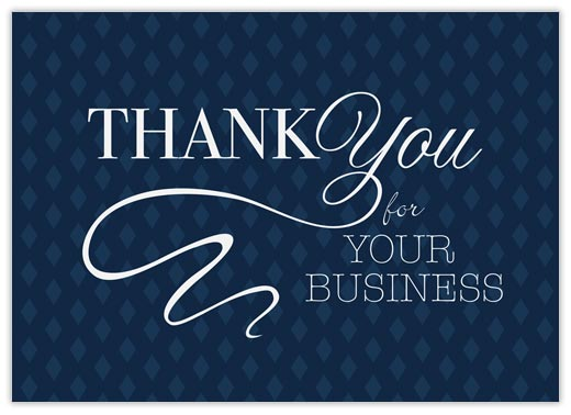 Diamond Script Thank You Thank You Cards from CardsDirect