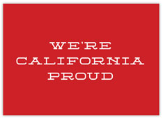 We're California Proud