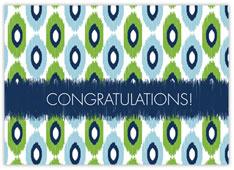 Modern Ikat Congratulations