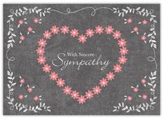 Sympathy Flower Heart