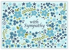Sympathy Flowers Border