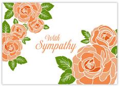 Peach Roses of Sympathy