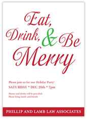 Be Merry Invitation