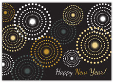 Metallic Circles New Year Card