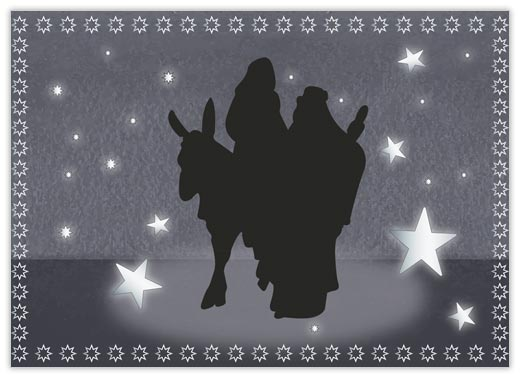 Holy Family Silhouette - Religious from CardsDirect