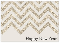 Chevron Gold New Year Card