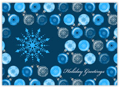 Snowflakes & Ornaments in Blue