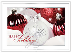 Crimson & White Ornaments