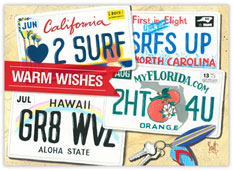 Warm Wishes License Plates