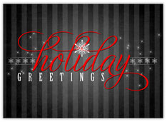 Pinstripe Holiday Greetings