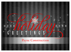 Holiday Pinstripe Greetings