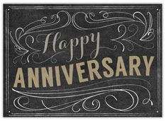 Chalkboard Scroll Anniversary