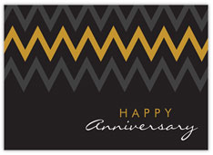 Gray & Gold Chevron Anniversary