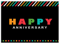 Colorful Stripes Anniversary