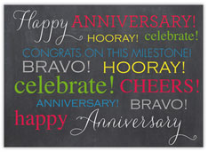 Colorful Gray Wordy Anniversary